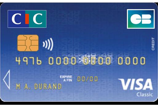 Carte Bancaire Visa Classic.Visa Classic Cic