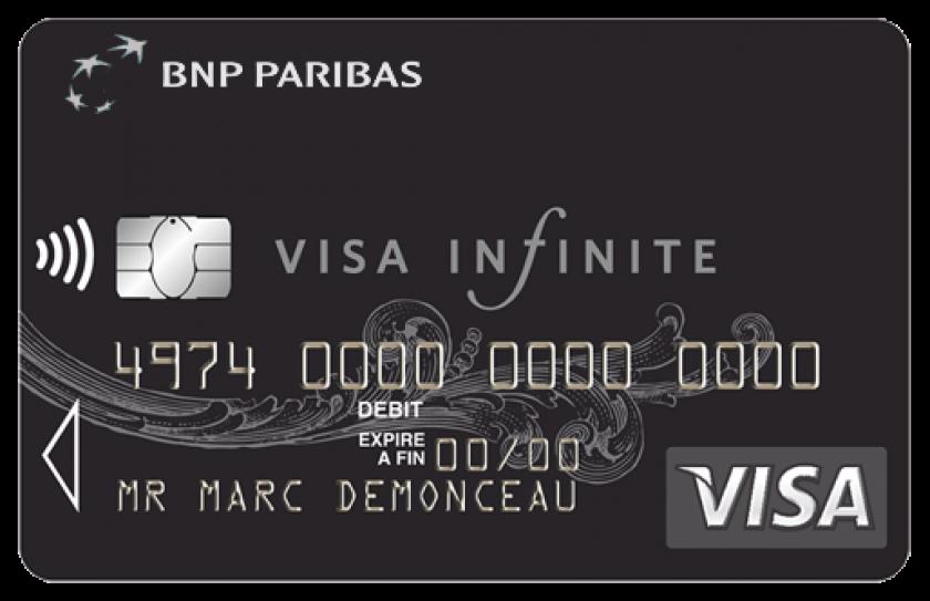 Visa infinite de BNP Paribas