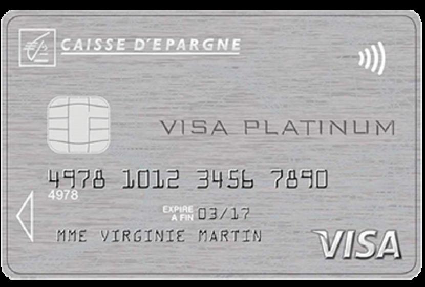 carte visa platinum de la Caisse d'Epargne