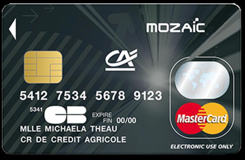 Carte Bleue Mozaic.Mastercard Mozaic Du Credit Agricole Carte De Paiement Ideale Pour Les 12 25 Ans