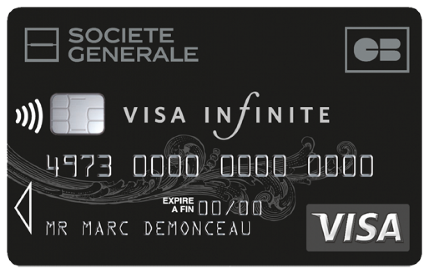 Carte Bleue Noire Infinity.Visa Infinite De La Societe Generale